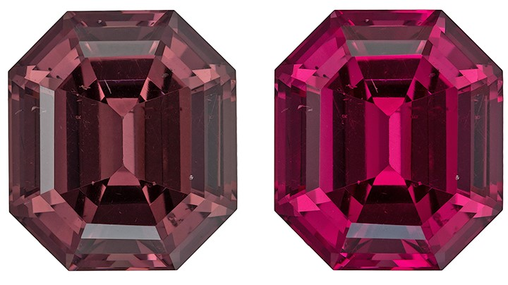 Rare Gem in Color Change Garnet Genuine Stone, 4.67 carats, Emerald Cut, 9.8 x 8.6  mm , High Quality