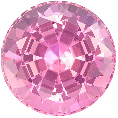 Fine Quality 4.78 carats Pink Tourmaline Round Genuine Gemstone, 10.4 mm