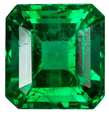 Authentic Vibrant Emerald Gemstone, Emerald Cut, 0.52 carats, 4.8 x 4.6 mm , AfricaGems Certified - A Beauty of A Gem