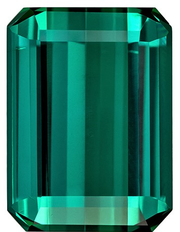 Unique Blue Green Tourmaline Loose Stone, 4.88 carats, Emerald Cut, 11.8 x 8.7  mm , High Quality Gemstone