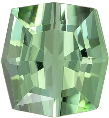 Unique Corner Antique Cut in 4.90 carat Delicate Blue Green Tourmaline Gemstone