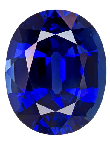Gorgeous Stone in 4.94 carats Sapphire Genuine Gemstone in Oval Cut, Intense Blue, 11.3 x 9.1 mm