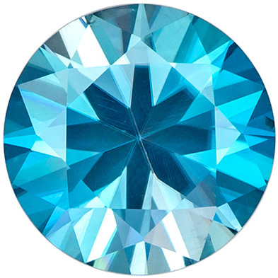 Beautiful Gem in 4 carat Blue Zircon Gemstone in Round Cut 9.6 mm