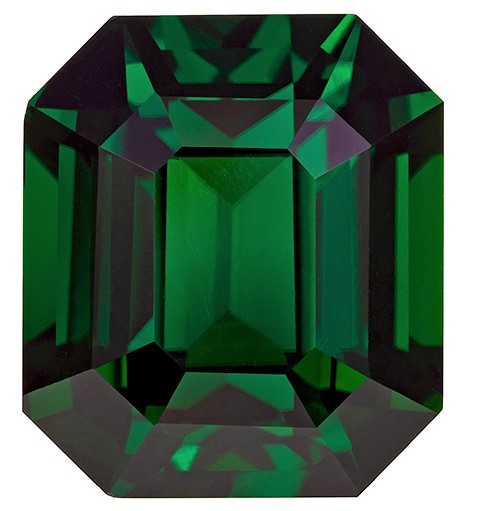 Very Rare Chrome Tourmaline Gemstone, Emerald Cut, 41.64 carats, 20.84 x 18.13 x 14.59 mm , GIA Certified - A Hard to Find Gem