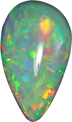 Stunning 5.01 carats Ethiopian Opal Pear Genuine Gemstone, 21 x 11.8 mm