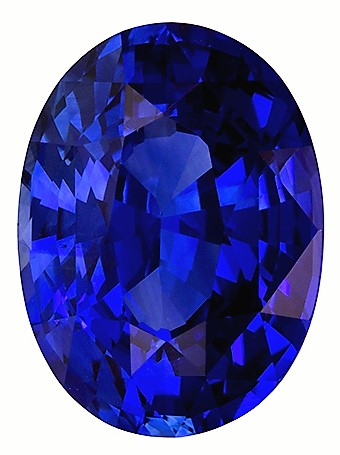 Natural GIA Special  Blue Sapphire Gemstone 5.06 carats, Oval Cut, 11.75 x 8.71 x 6.08 mm