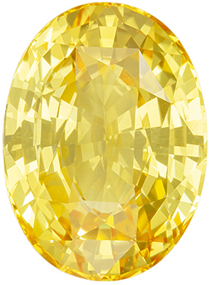 Hard to Find Sapphire Quality Gem, 5.06 carats, Vivid Pure Yellow, Oval Cut, 11.6 x 8.5 mm