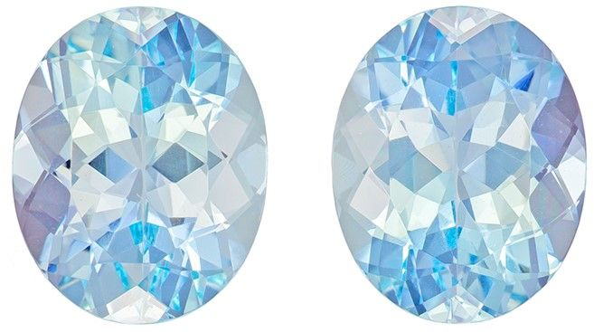 5.08 carats Aquamarine Loose Gemstone in Oval Cut, Medium Blue, 10 x 8 mm