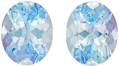 Fine 5.08 carats Aquamarine Loose Gemstone in Oval Cut, Medium Blue, 10 x 8 mm