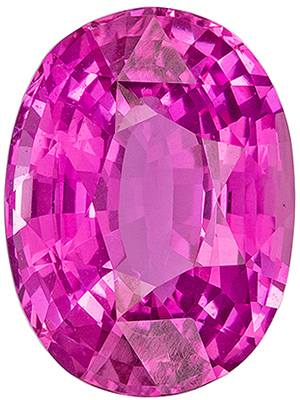 12x10 Oval Man Made Pink Sapphire HOT COLOR