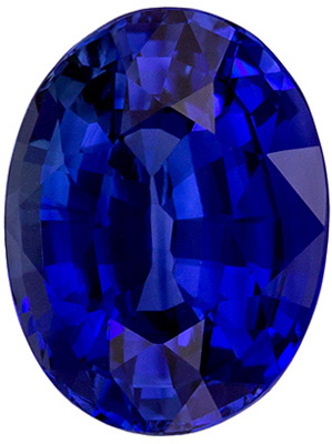 Truly Impressive  GRS Certified  Unheated Blue Sapphire Loose Gemstone, Vivid Intense Rich Blue, Oval Cut, 11.43 x 8.66 x 6.05 mm, 5.1 carats