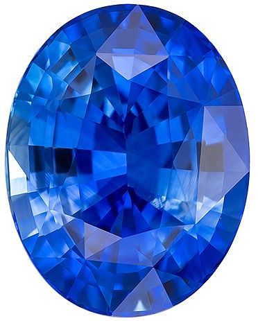 Natural Blue Sapphire Gemstone, 5.1 carats, Oval Cut, 11.33 x 8.88 x 6.01 mm, Great Deal on This Gem with GIA Cert