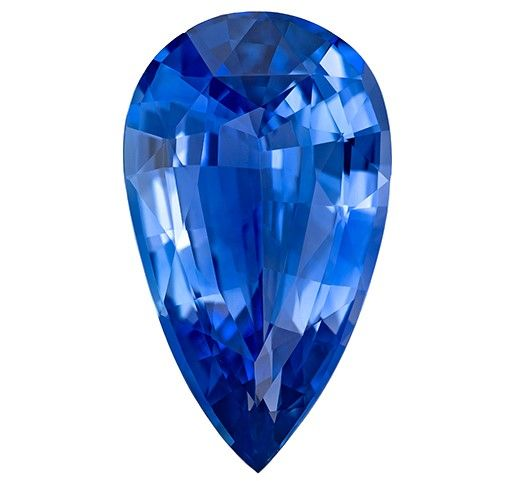 Super Fine Blue Sapphire Gemstone, 5.13 carats, Pear Cut, 15.08 x 8.75 x 5.15 mm, A Low Price with GIA Cert