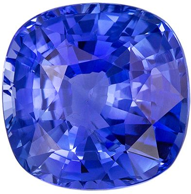 Super Fine 5.17 carats Blue Sapphire Cushion Genuine Gemstone, 10.13 x 10.1 x 5.93 mm