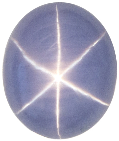 5.31 carats Blue Star Sapphire Loose Gemstone in Rich Sky Blue Color, Nice Star, 10.7 x 9.1 mm Oval