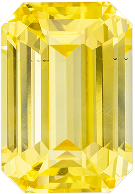 Very Special 5.47 carats Yellow Sapphire Emerald Genuine Gemstone, 11.12 x 7.49 x 5.81 mm