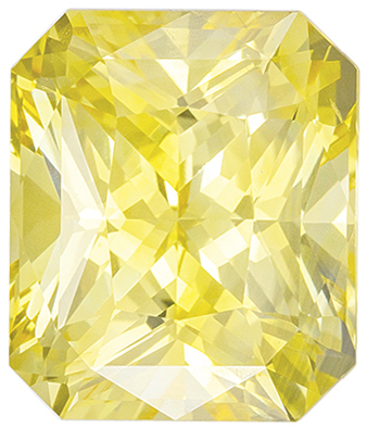 Hard to Find No Treatment Radiant Cut Yellow Sapphire Loose Gem, 10.4 x 8.85 x 6.61 mm, Pure Yellow Color, 5.54 carats, GIA Certified