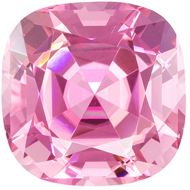 Rare Pink Tourmaline 5.63 carats, Cushion shape gemstone, 10.7  mm