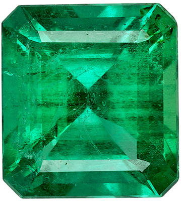 Rare No Oil Gem Emerald with GIA in Emerald Cut in Rich Green Color in 11.7 x 10.6 x mm, 5.75 carats