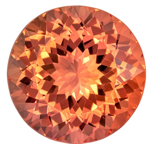 Must See Imperial Topaz Genuine Gem, 5.79 carats, Round Cut, 11 mm , Amazing Color Low Price