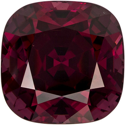 5.8 carats Beautiful Rhodolite Loose Gem, Reddish Raspberry Color in 9.4 mm Cushion Cut