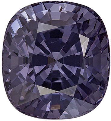 Beautiful Spinel Genuine Gem, 10 x 9.2mm, Violet Tinged Platinum, Cushion Cut, 5.8 carats