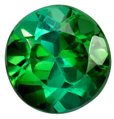 5.8 mm Blue Green Tourmaline Genuine Gemstone in Round Cut, Vivid Blue Green, 0.88 carats