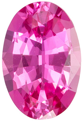 5.8 x 3.8 mm Pink Sapphire 2 Piece Matched Pair in Oval Cut, Vivid Pink, 0.52 carats