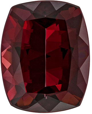 Bright & Lively Rhodolite Quality Gem, 11.8 x 9.3mm, Rich Open Red, Cushion Cut, 5.93 carats