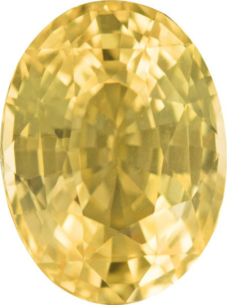 5 Carat Plus Yellow Loose Sapphire Oval No Treatment Gem, Rich Yellow, 11.3 x 8.4 mm, 5.05 carats