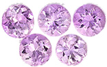 5 mm Precious Topaz Well Matched Gem Pair in Round Cut, Pink Color, 1.15 carats