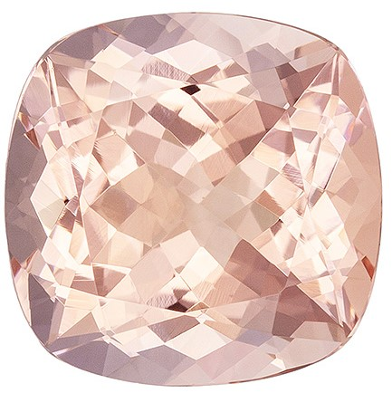 Unique Pink Morganite Genuine Gem, 5 carats, Cushion Cut, 11 mm , Must See This Gemstone