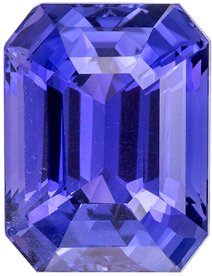 Very Attractive Unheated GIA Certified Sapphire Quality Gem, 10.86 x 8.34 x 6.53 mm, Violet Purple to Vivid Blue, Emerald Cut, 6.01 carats