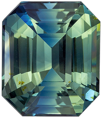 Highly Desirable No Treatment GIA Certified Sapphire Loose Gem, 10.77 x 9.17 x 6.44 mm, Teal Blue Green, Emerald Cut, 6.04 carats