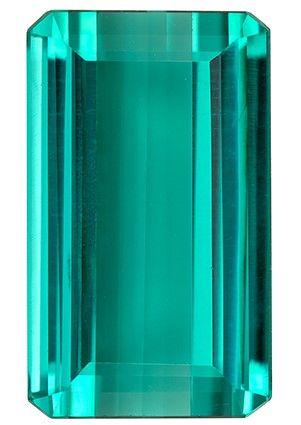 Selected Blue Tourmaline Gemstone, 6.05 carats, Emerald Cut, 13.6 x 8.1 mm, Great Looking Stone