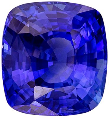 Natural Loose 6.08 carats Blue Sapphire Cushion Genuine Gemstone, 10.72 x 9.93 x 6.33 mm