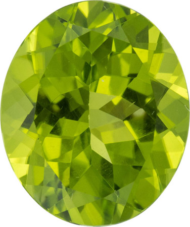 Low Price on 6.13 carat Peridot Loose Gem in Oval German Cut, 13.0 x 10.9 mm