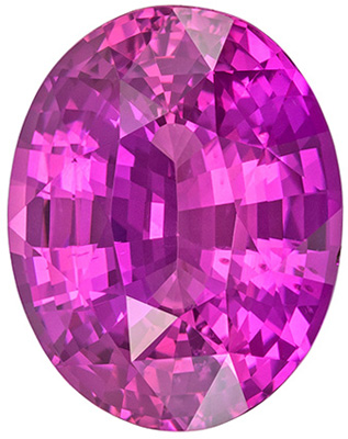 Lovely Rare GIA Certified Sapphire Loose Gem, 12.46 x 9.81 x 6.46 mm, Rich Pure Pink, Oval Cut, 6.27 carats