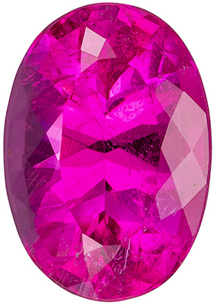 Must See 6.29 carat Pink Tourmaline Gemstone in Oval Cut 13.8 x 9.7 mm
