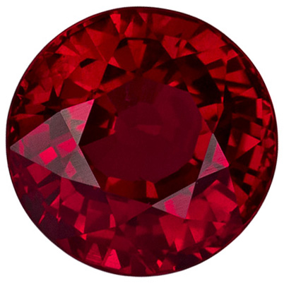 6.3 mm, 1.56 carats Clean Ruby Gemstone in Pure Fiery Rich Red Color Special Gemstone
