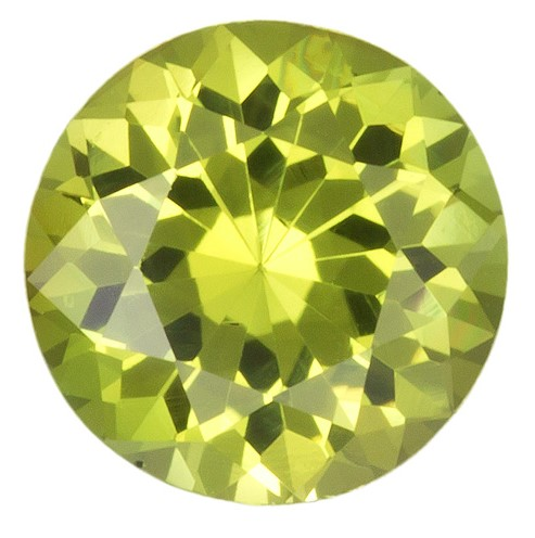 6.3 mm Yellow Chrysoberyl Genuine Gemstone in Round Cut, Greenish Yellow, 1.07 carats