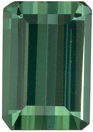 6.5 x 4.5 mm Blue Green Tourmaline Well Matched Gem Pair in Emerald Cut, Steely Blue Green, 0.89 carats