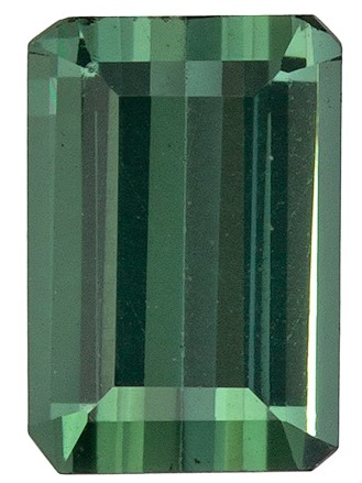 Must See Blue Green Tourmaline Faceted Gem, 0.89 carats, Emerald Cut, 6.5 x 4.5  mm , Super Fine Stone
