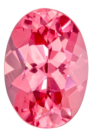Gorgeous Stone in 0.71 carats Spinel Loose Genuine Gemstone in Oval Cut, Pink Orange, 6.5 x 4.5 mm