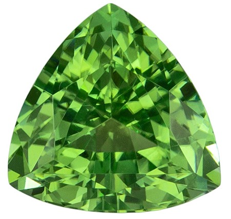 Stunning Green Tourmaline 1.41 carats, Trillion shape gemstone, 6.7  mm