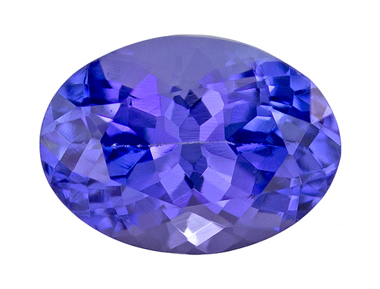Unset Vivid Tanzanite Gemstone, Oval Cut, 0.92 carats, 6.8 x 4.9 mm , AfricaGems Certified - A Great Buy