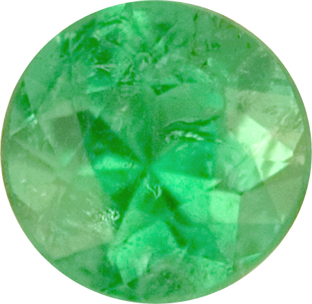 6.9 x 6.9 mm Green Color Paraiba Tourmaline Loose Gem in Round Cut, 1.39 carats