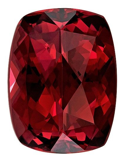 Faceted Rhodolite Garnet Gemstone, 6.91 carats, Cushion Cut, 12.6 x 9.4 mm, Great Deal on This Gem