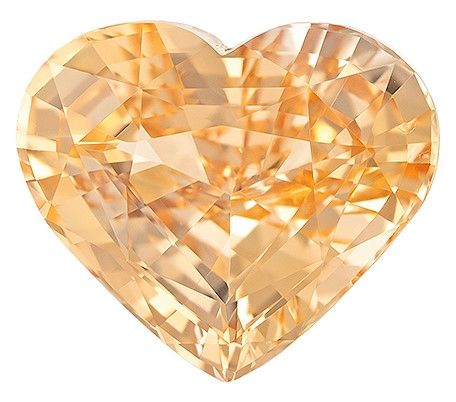 No Heat Peach Sapphire Gemstone, 6.98 carats, Heart Cut, 13.17 x 11.24 x 6.32 mm, A Great Find On This Gem with GIA Cert