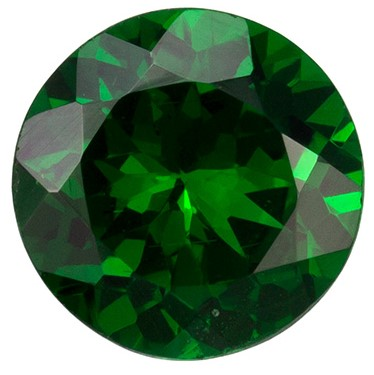 6 mm Tsavorite Genuine Gemstone in Round Cut, Vivid Rich Green, 0.93 carats